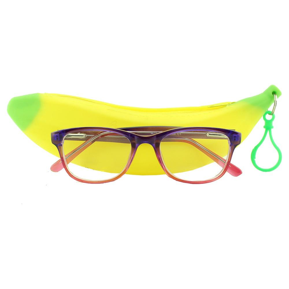 Armação para Óculos de Grau Infantil M29 Roxa e Rosa Degradê com Estojo Hello Nana