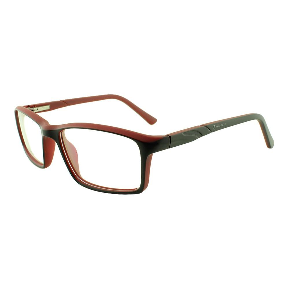 Armação para Óculos de Grau Infantil TY5049 Preta e Vermelha Hello Nana