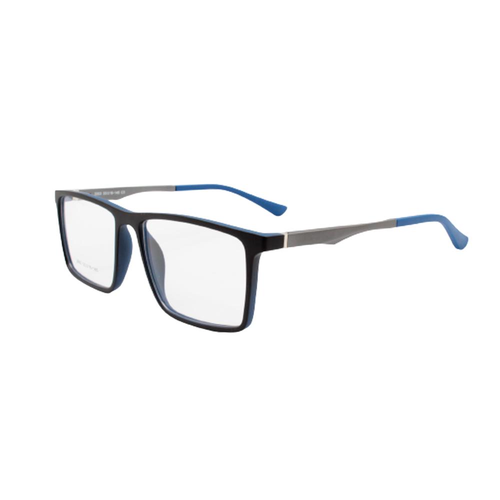 Armação para Óculos de Grau Masculino 3003-C3 Preta e Azul