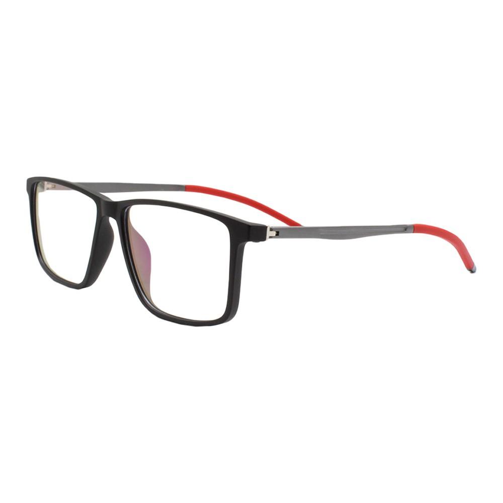 Armação para Óculos de Grau Masculino 9165 Preta e Vermelha