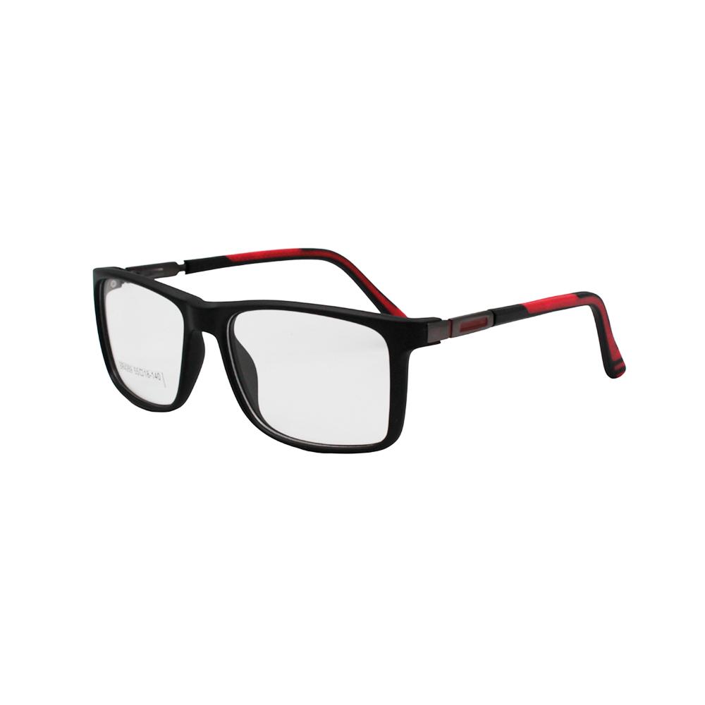 Armação para Óculos de Grau Masculino BR4269-C2 Preta e Vermelha