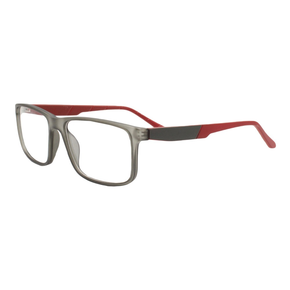 Armação para Óculos de Grau Masculino FB05504 Fumê e Vermelha
