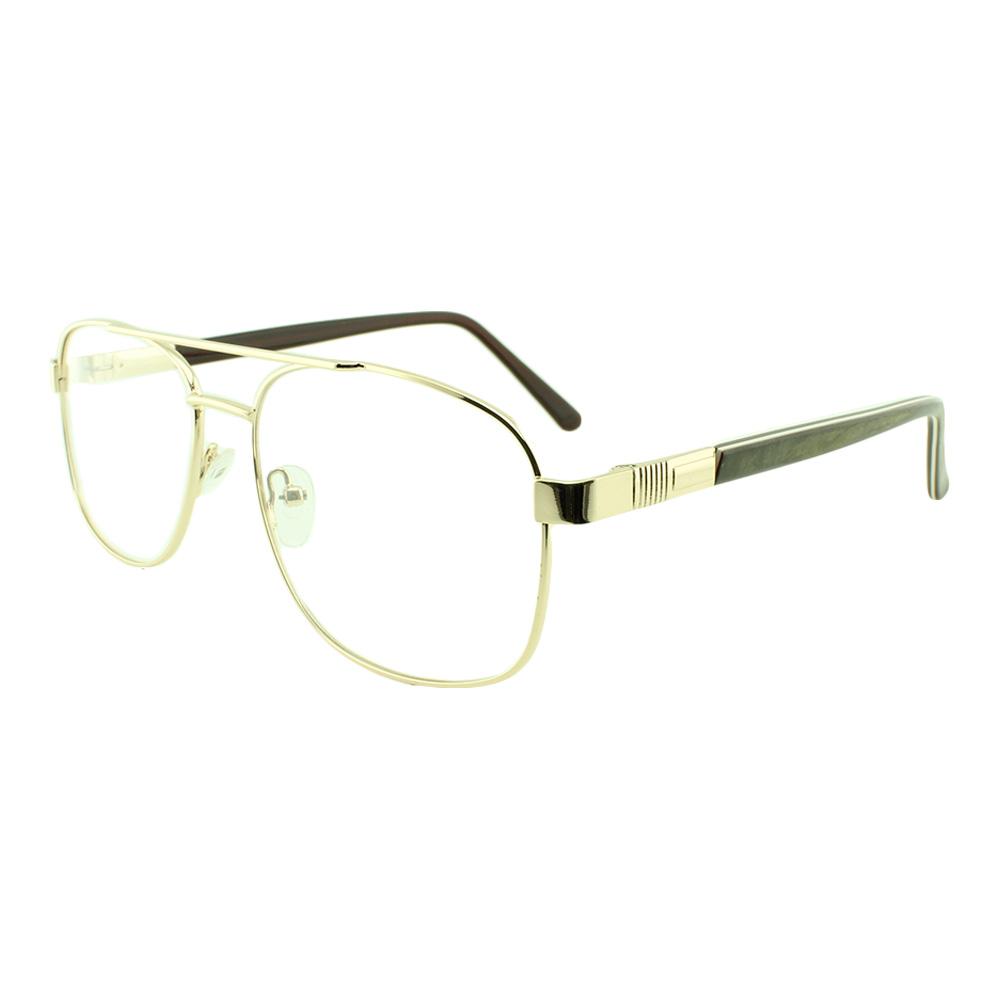 Armação para Óculos de Grau Masculino FB8009 Dourada