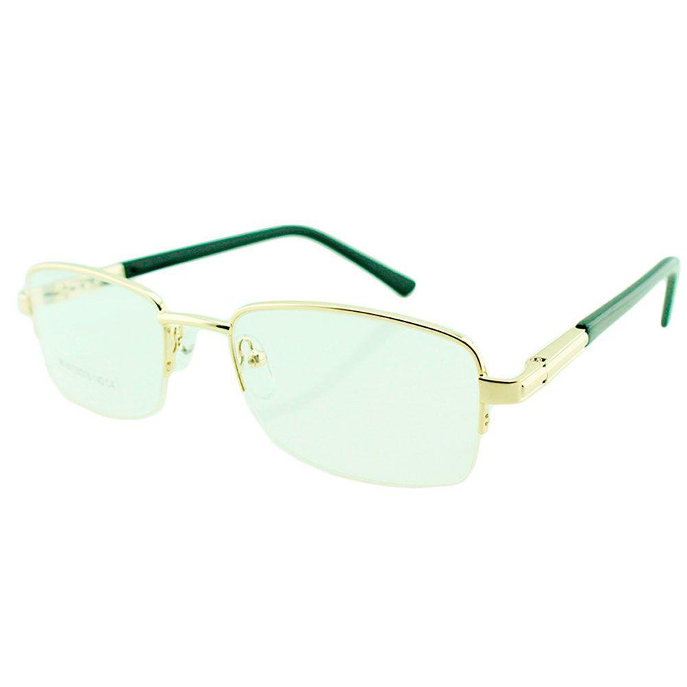 Armação para Óculos de Grau Masculino M49 Dourada
