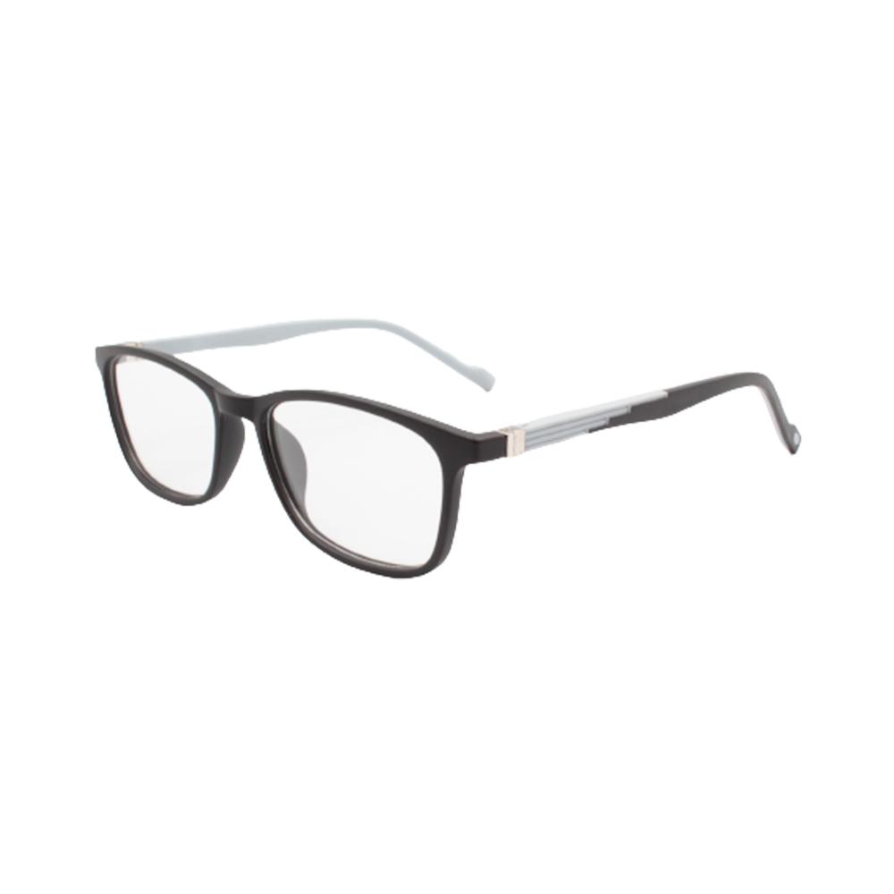Armação para Óculos de Grau Masculino TR80 Preta e Cinza