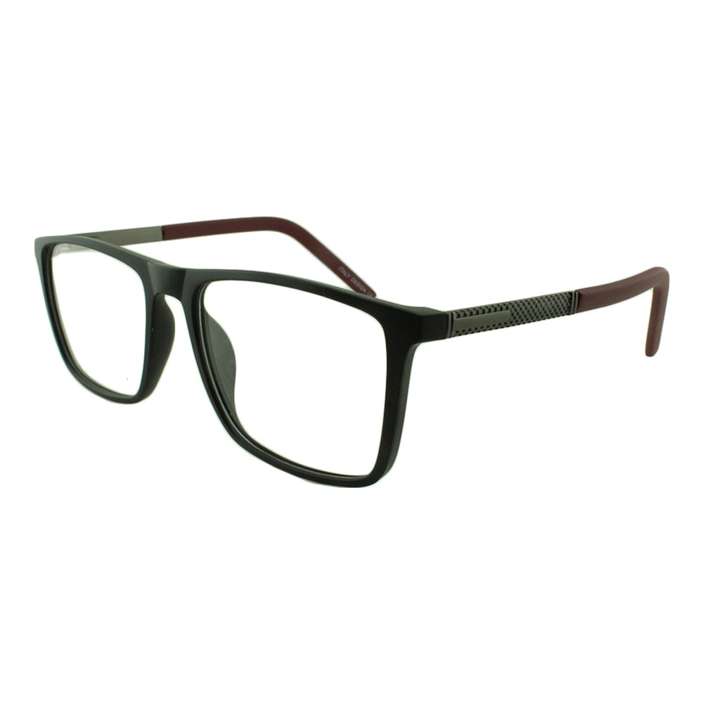 Armação para Óculos de Grau Masculino YY1127 Preta e Vinho