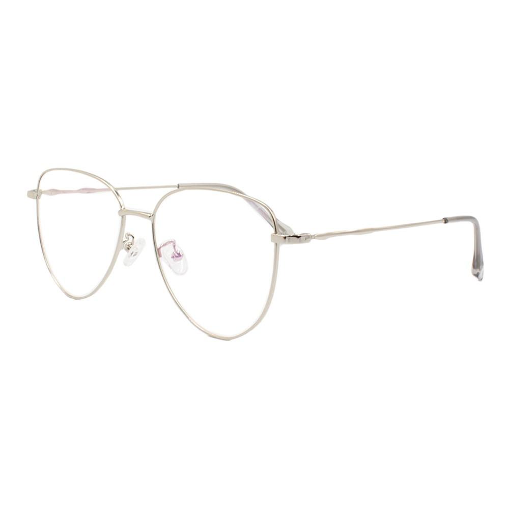 Armação para Óculos de Grau Unissex 2104 Prata