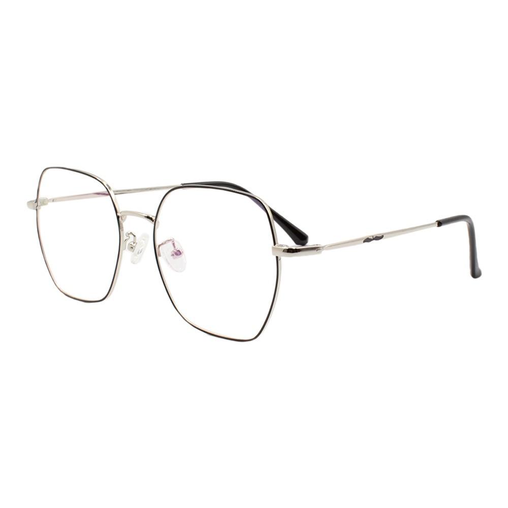 Armação para Óculos de Grau Unissex 2109 Preta e Prata