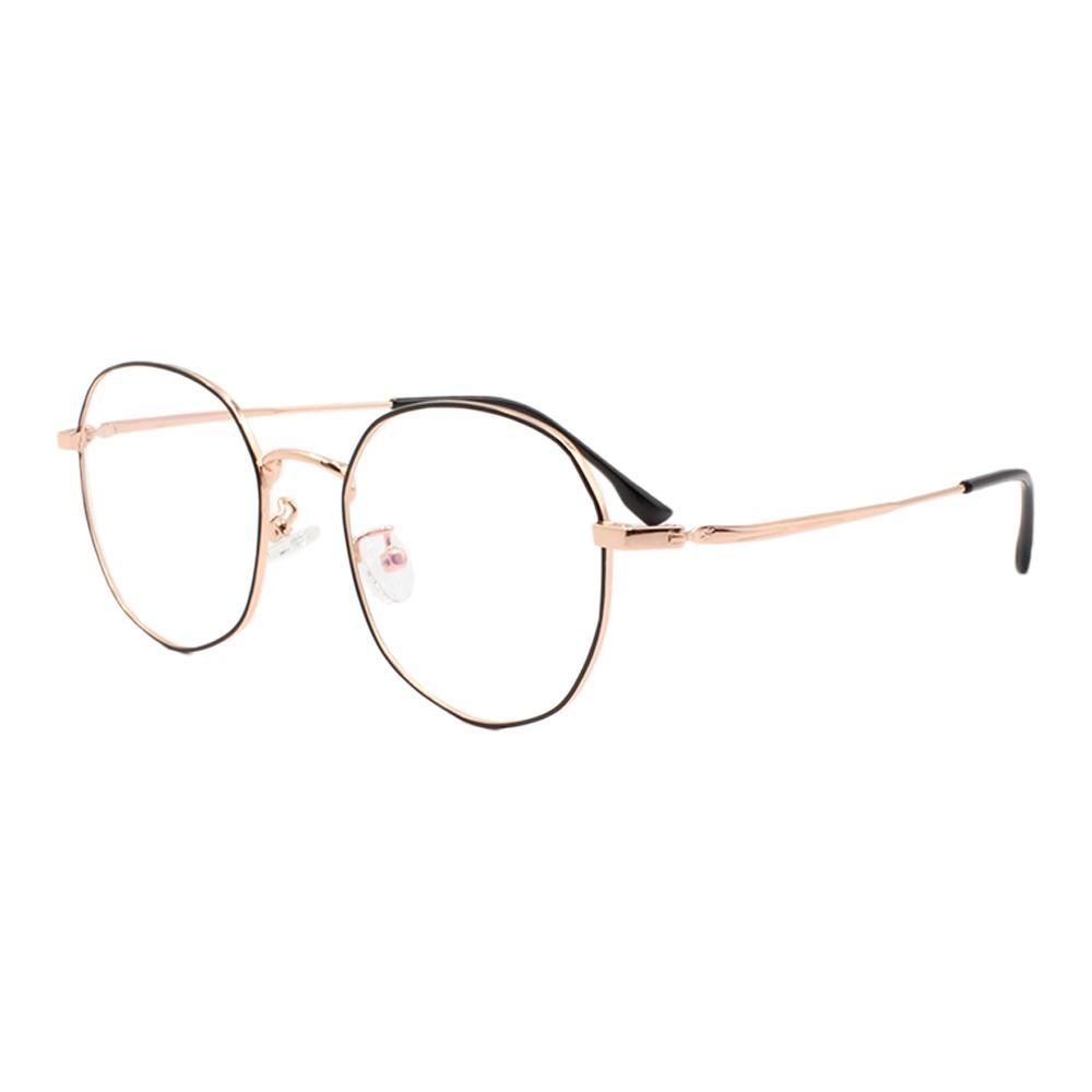 Armação para Óculos de Grau Unissex 285 Preta e Dourada