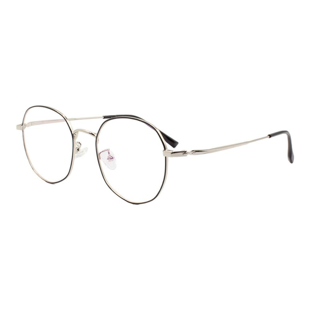 Armação para Óculos de Grau Unissex 285 Preta e Prata