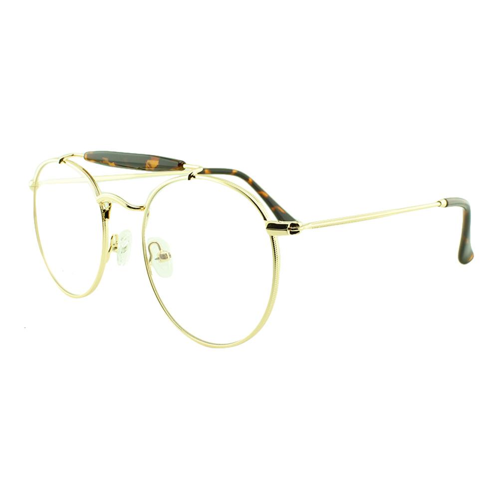 Armação para Óculos de Grau Unissex 5965 Dourada