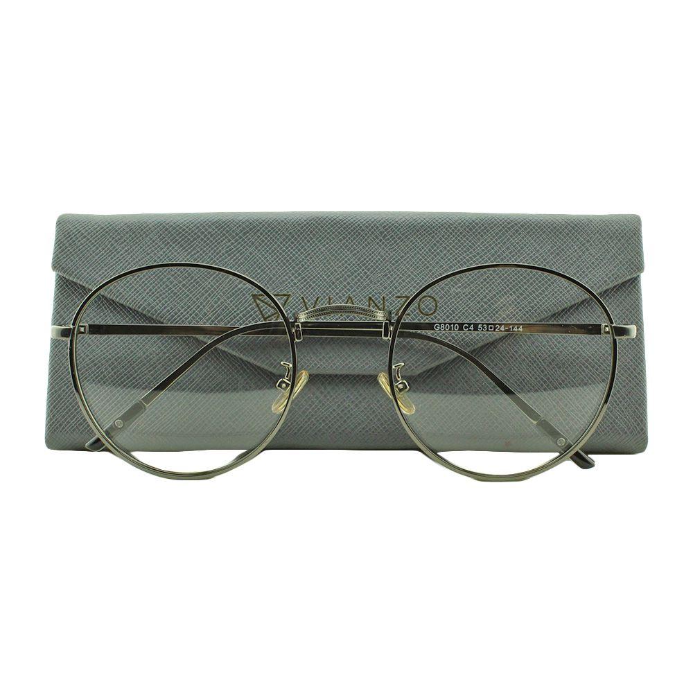Armação para Óculos de Grau Unissex G8010 Grafite com Estojo Vianzo