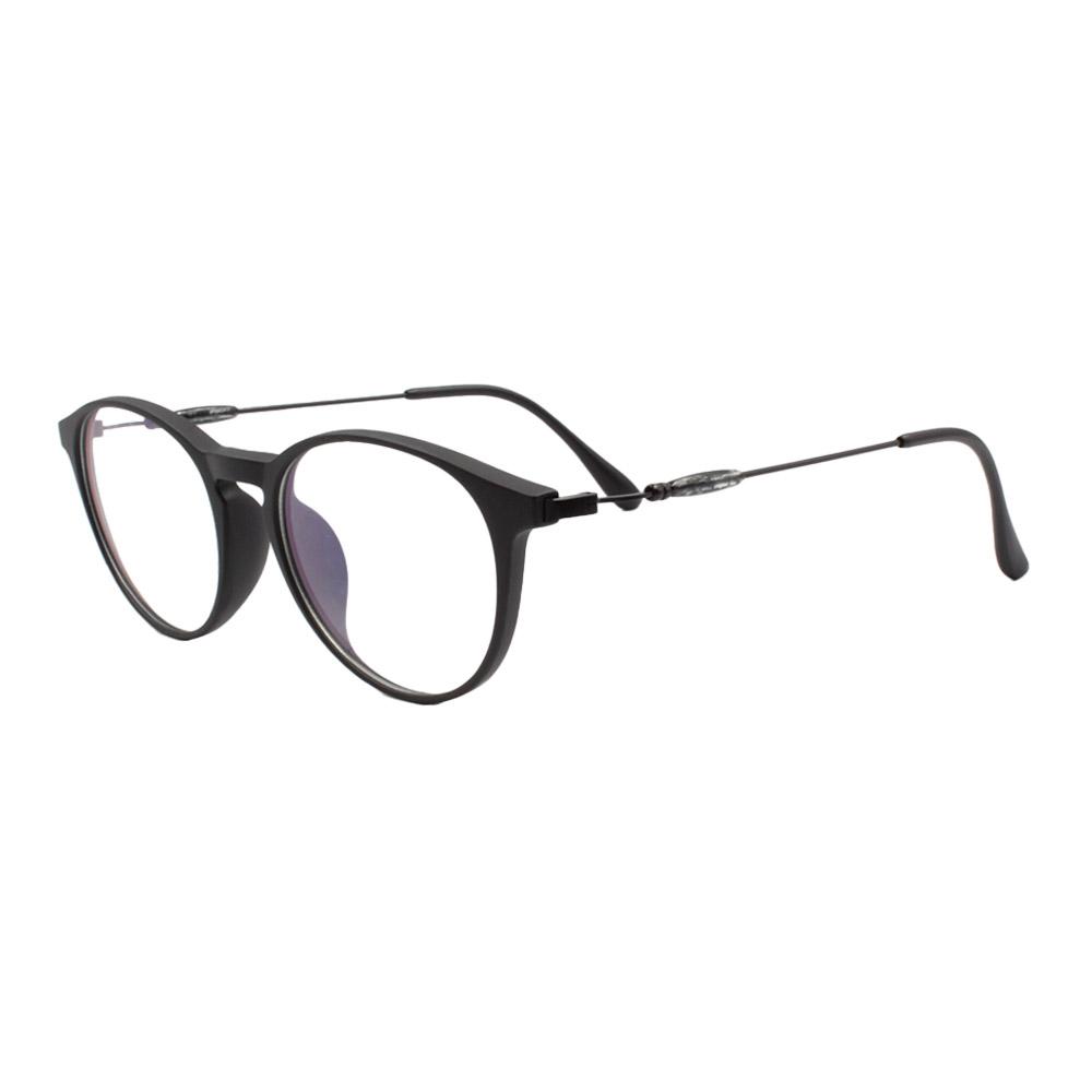 Armação para Óculos de Grau Unissex TR18038 Preta