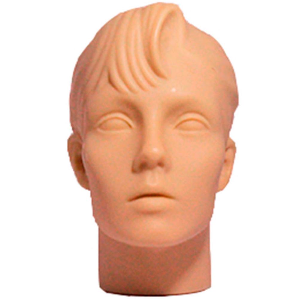 Cabeça Manequim Expositor Feminino sem Maquiagem em PVC E-01 MCS