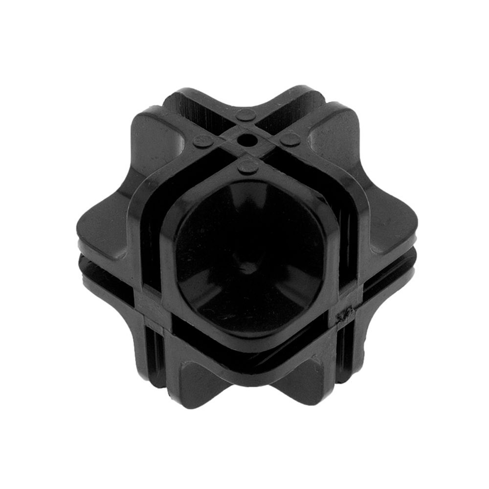 Conectivo para Balcão de Vidro e Aramado em ABS 1/1 100C11 - Unidade