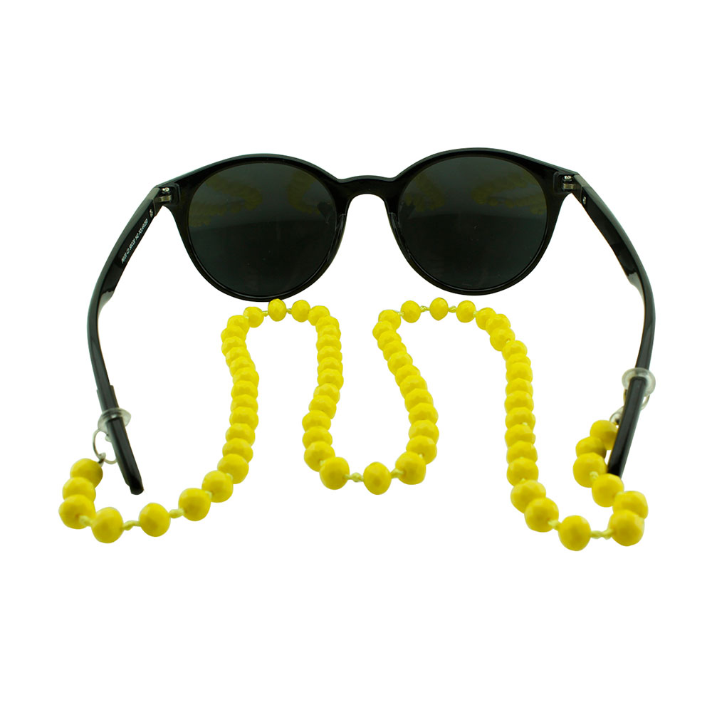 Cordão para Óculos em Strass 020V Amarelo - Unidade