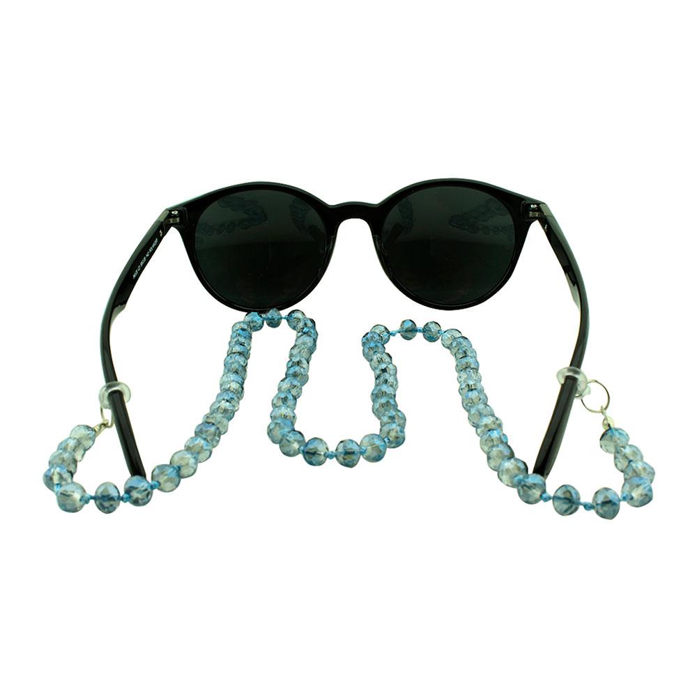 Cordão para Óculos em Strass 020V Azul - Unidade