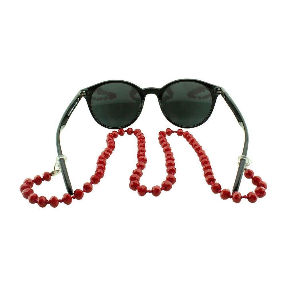 Cordão para Óculos em Strass 020V Vermelho - Unidade