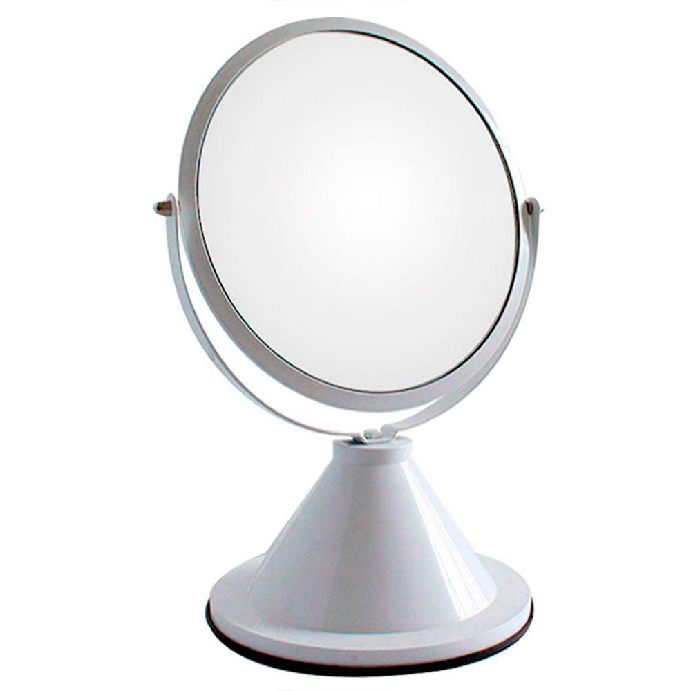 Espelho de Aumento 5X Dupla Face 0006 Branco