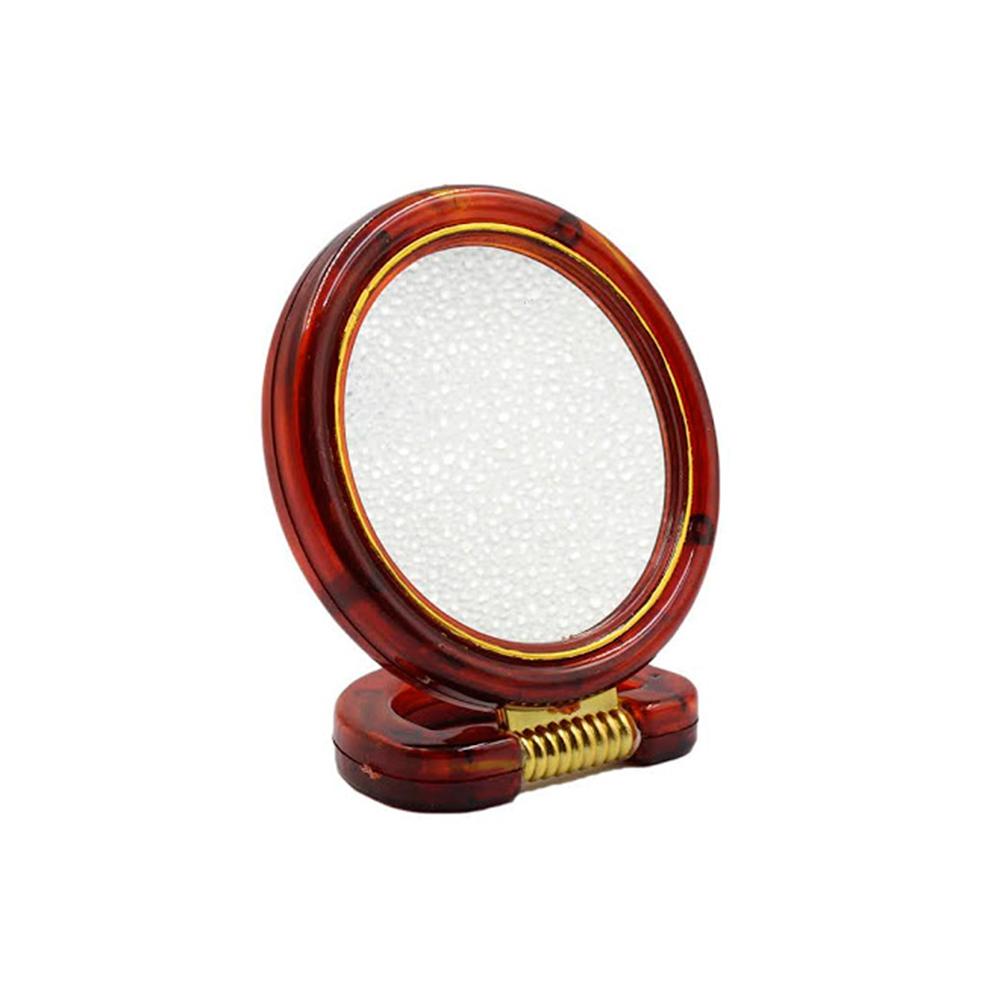 Espelho de Aumento 5X Dupla Face com Moldura de Plástico 114174 Marrom