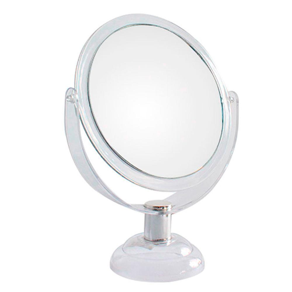 Espelho de Aumento 5X Dupla Face com Moldura de Plástico JZ007