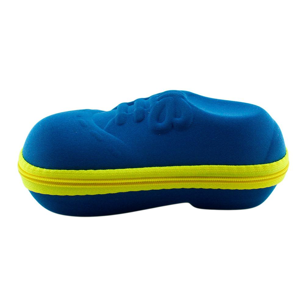 Estojo para Óculos Solar Infantil com Zíper 09I Azul e Amarelo