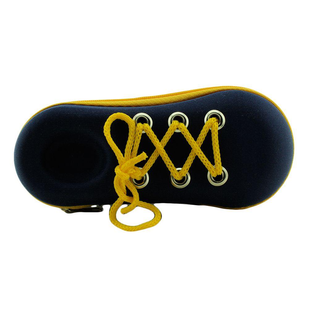 Estojo para Óculos Solar Infantil com Zíper M185 Azul e Amarelo