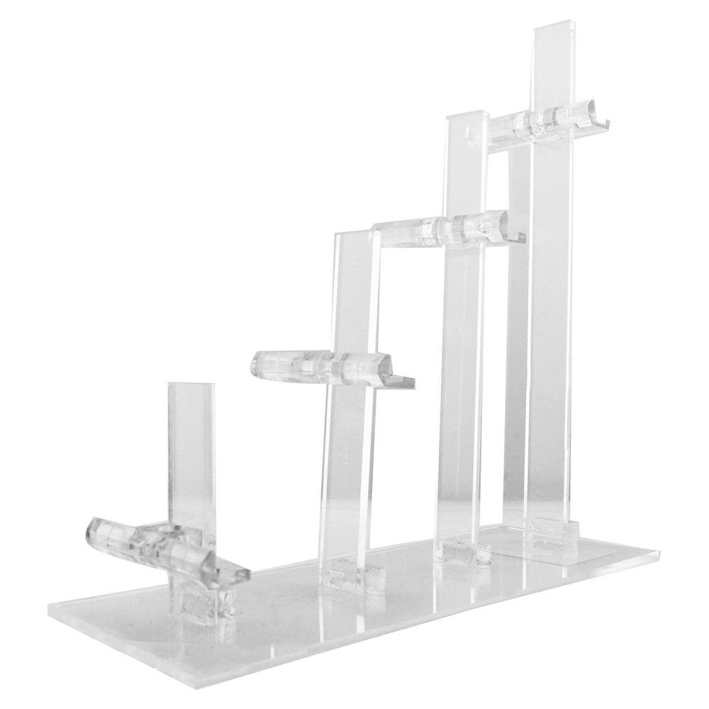 Expositor Escadinha para 4 Óculos em Acrílico FT4 Transparente