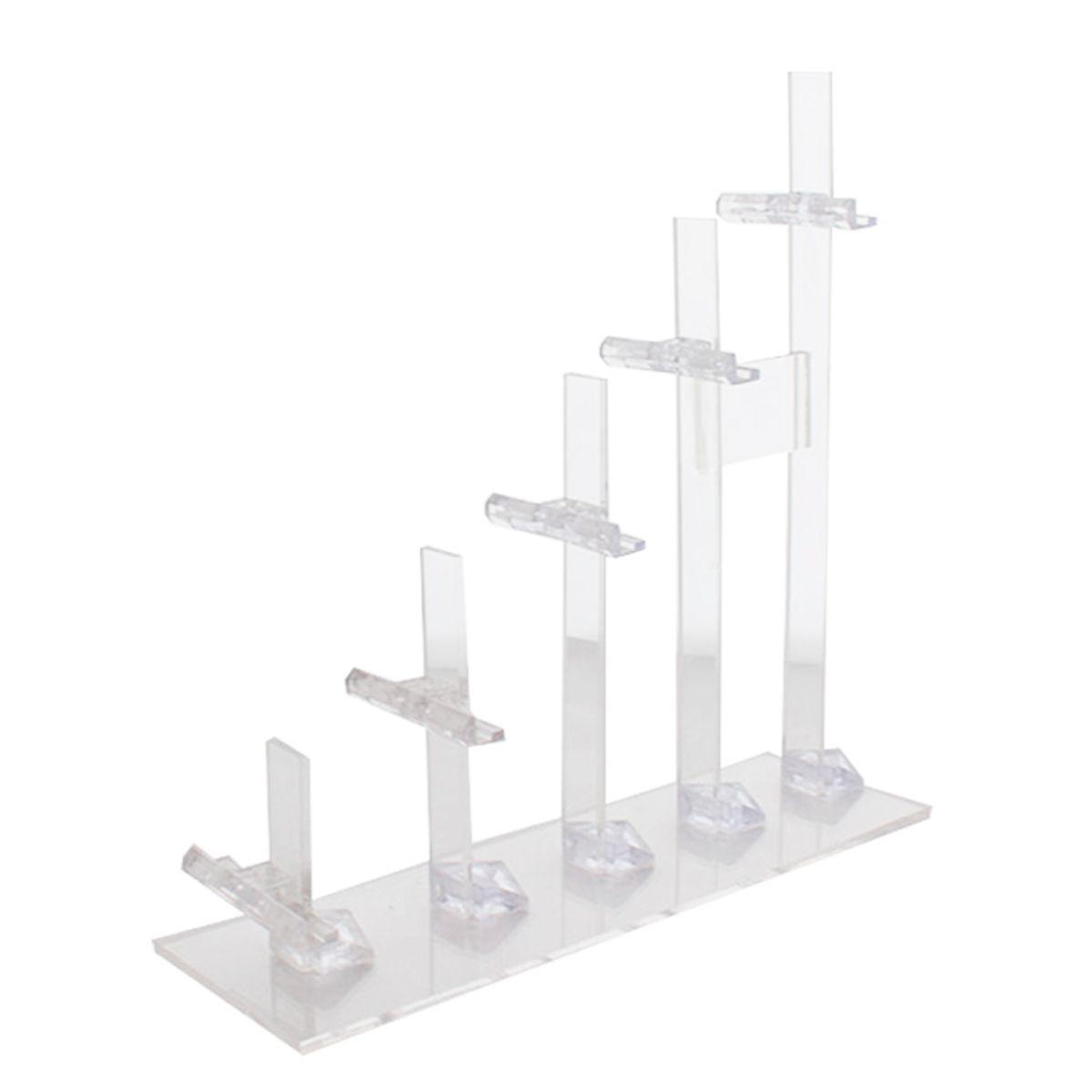 Expositor Escadinha para 5 Óculos em Acrílico FT5 Transparente