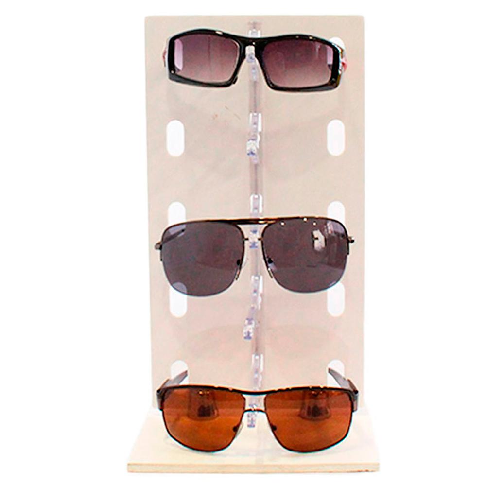 Expositor para 5 Óculos em Acrílico e MDF P5INJ Branco