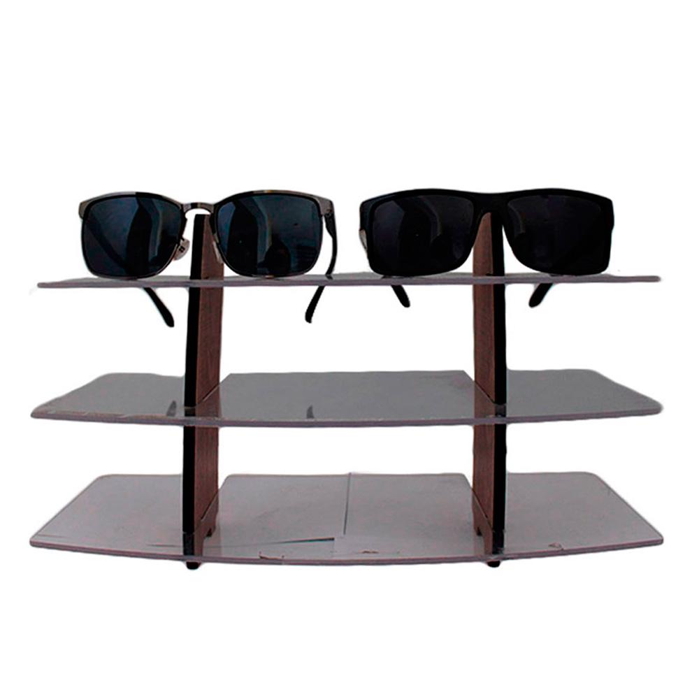 Expositor para 6 Óculos em MDF PLUS06 Marrom