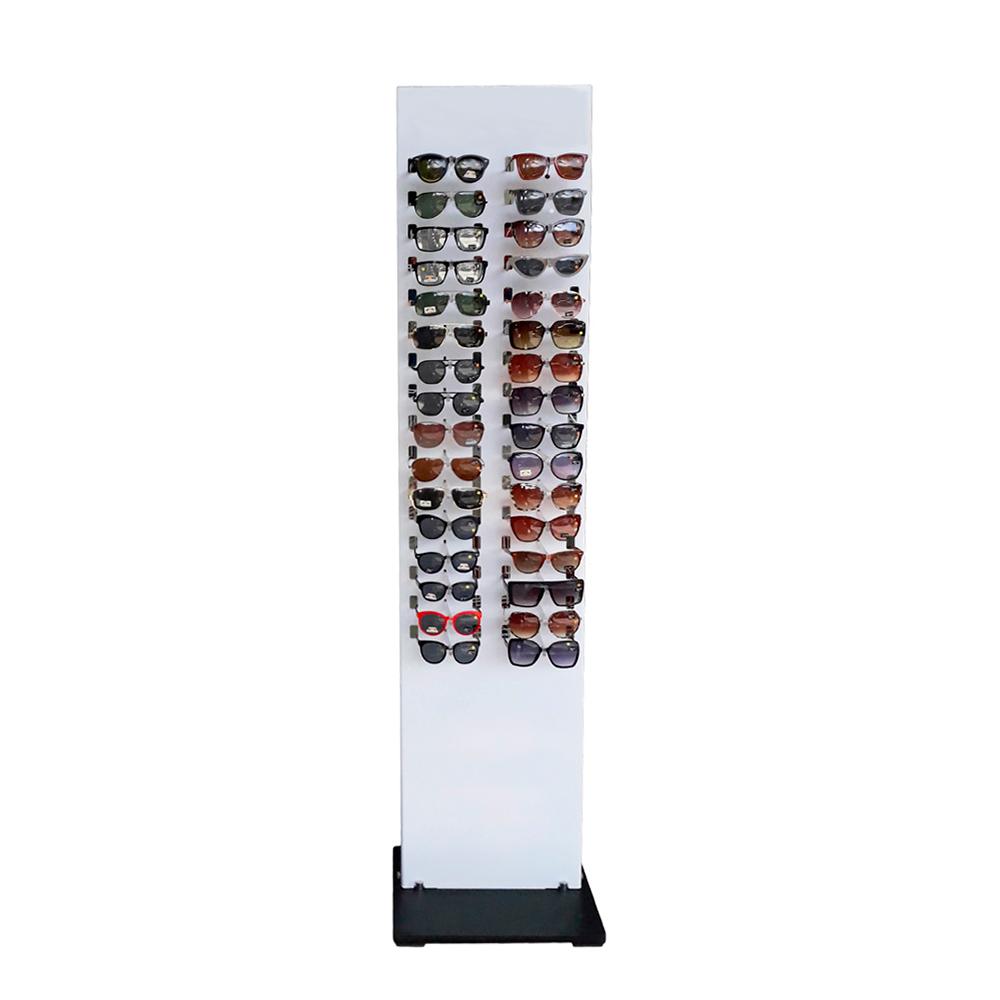 Expositor Pedestal de Chão para 32 Óculos P32SR Branco