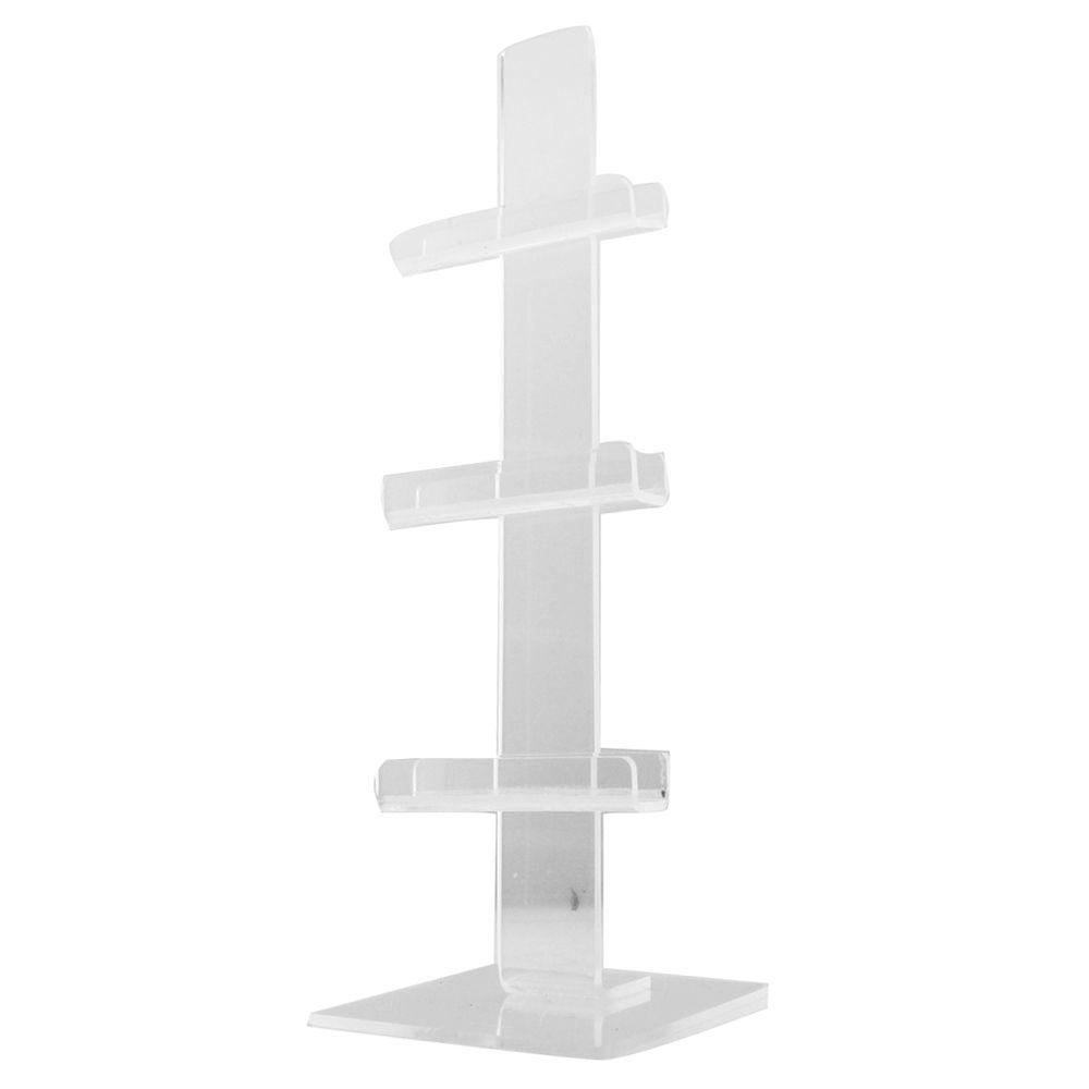 Expositor Pedestal para 3 Óculos em Acrílico PED003 Transparente