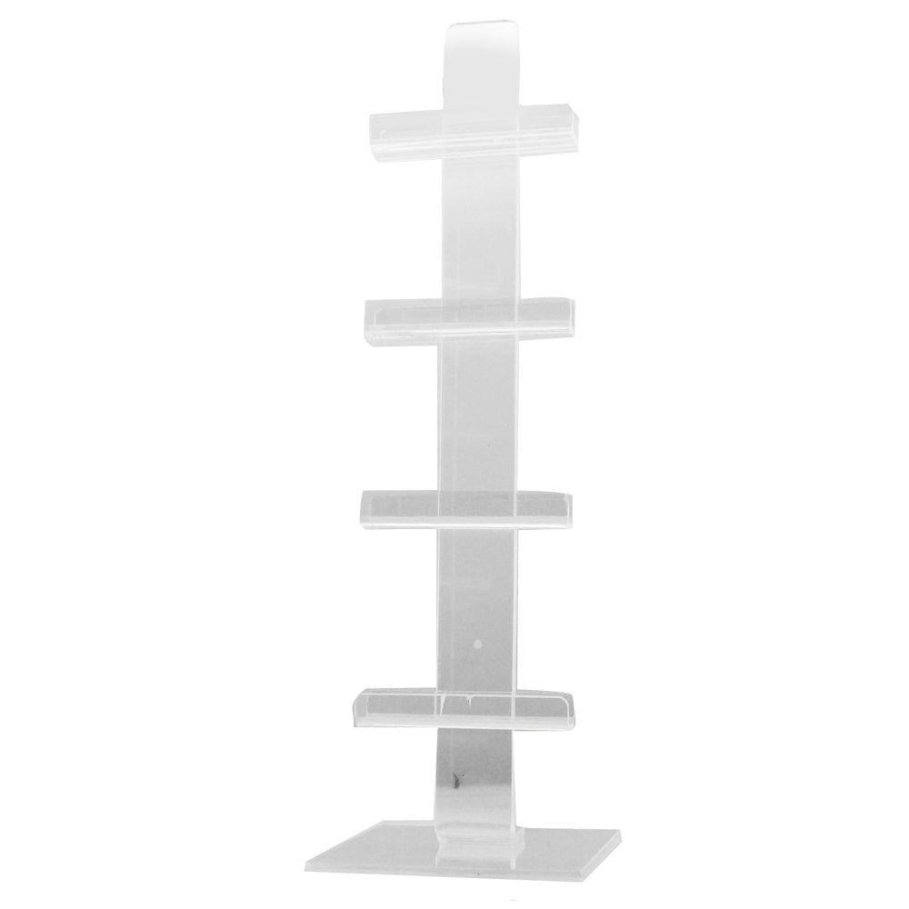 Expositor Pedestal para 4 Óculos em Acrílico PED004 Transparente