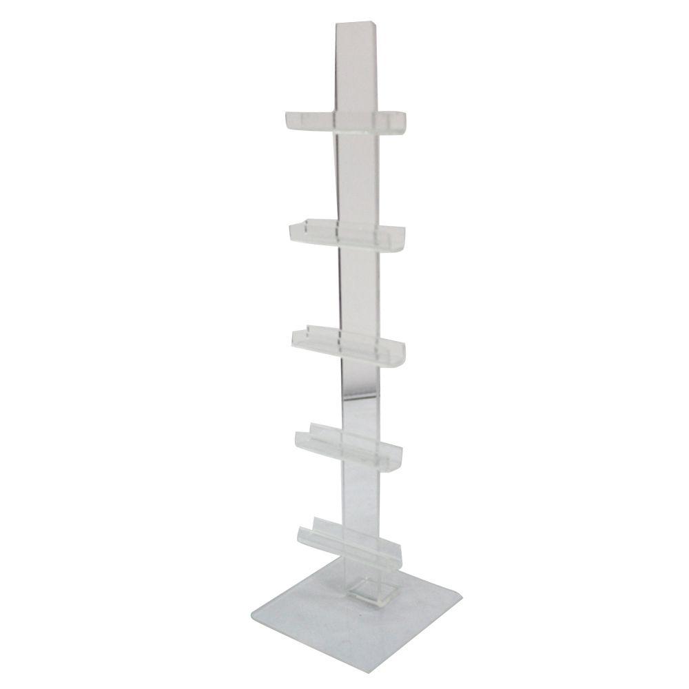 Expositor Pedestal para 5 Óculos em Acrílico PED005 Transparente