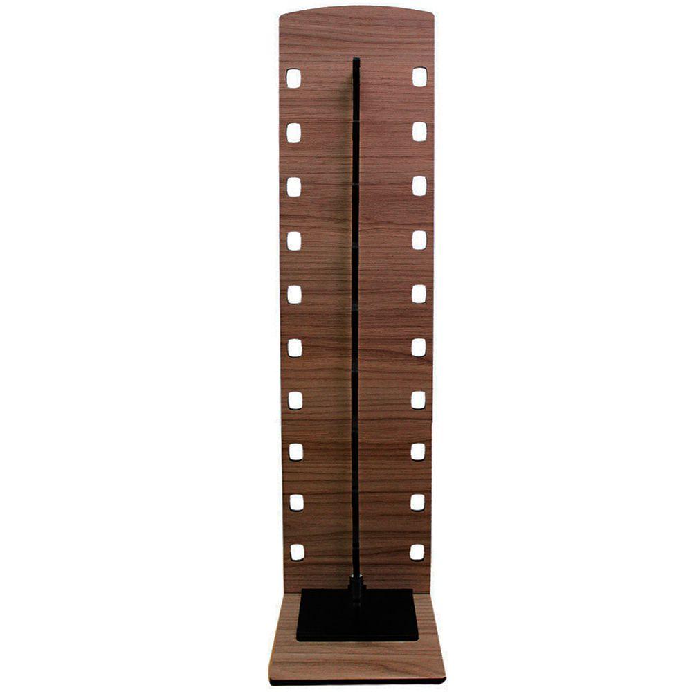 Expositor Torre para 10 Óculos em MDF GOLD10 Marrom com Preto