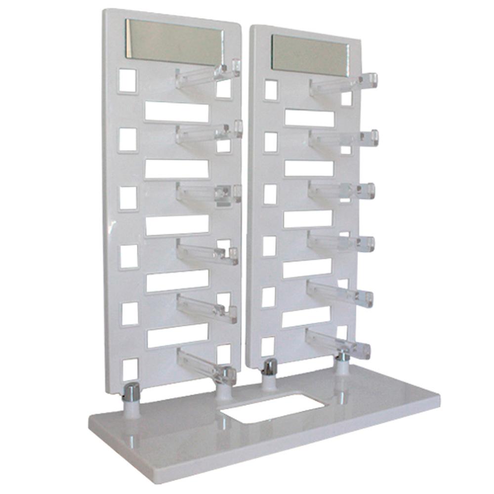Expositor Torre para 12 Óculos com Espelhos EP12 Branco