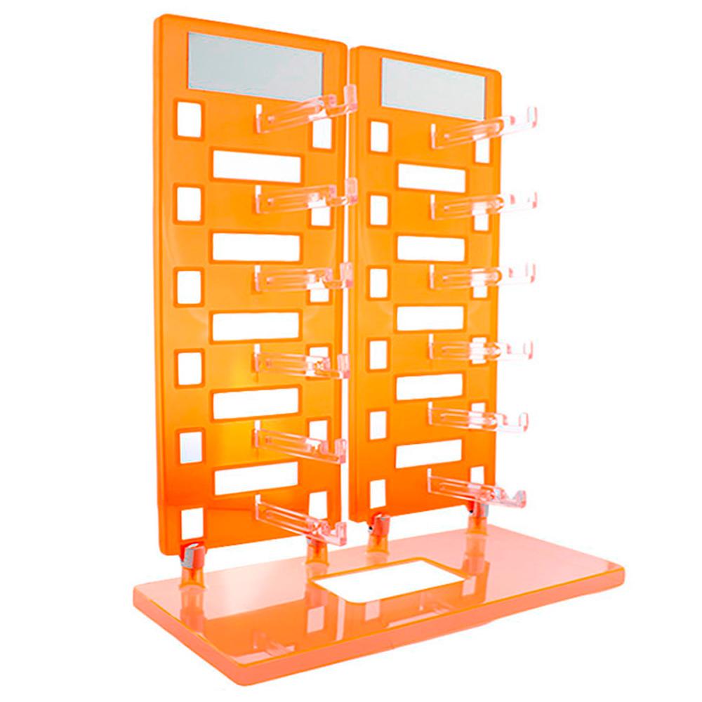 Expositor Torre para 12 Óculos com Espelhos EP12 Laranja