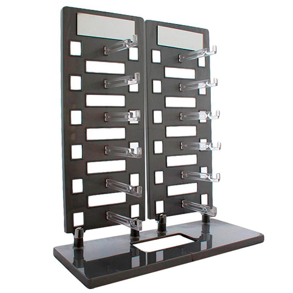 Expositor Torre para 12 Óculos com Espelhos EP12 Prata