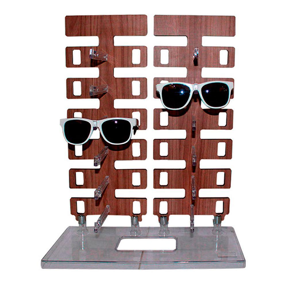 Expositor Torre para 12 Óculos em MDF 12MDF Marrom
