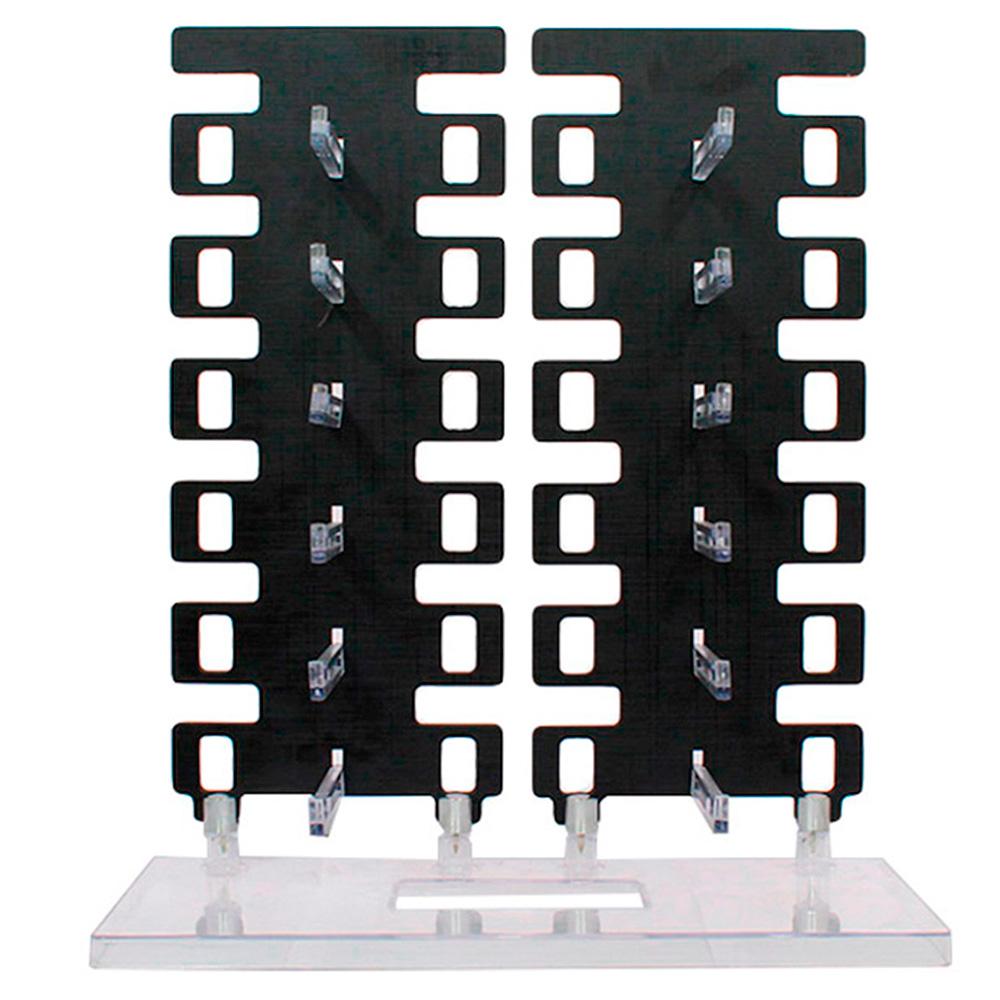 Expositor Torre para 12 Óculos em MDF 12MDF Preto