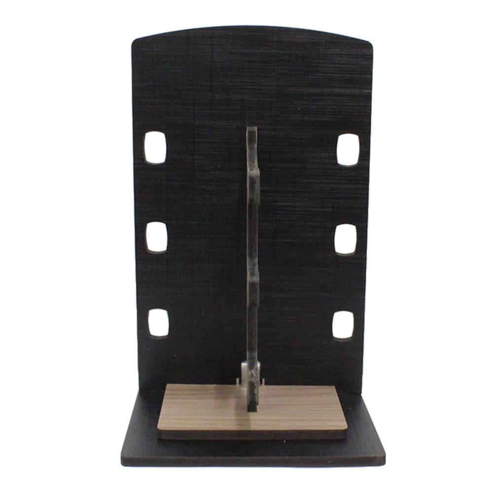 Expositor Torre para 3 Óculos em MDF GOLD3 Preto com Marrom