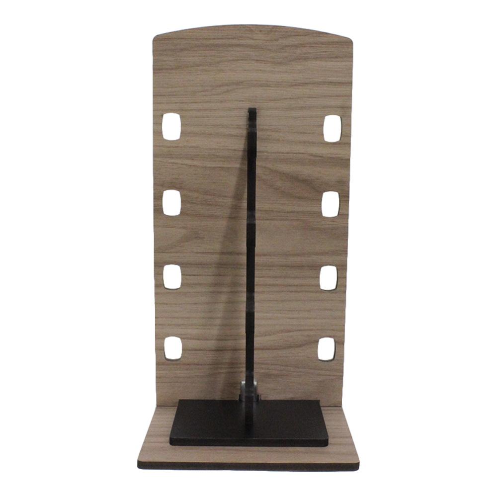 Expositor Torre para 4 Óculos em MDF GOLD4 Marrom com Preto