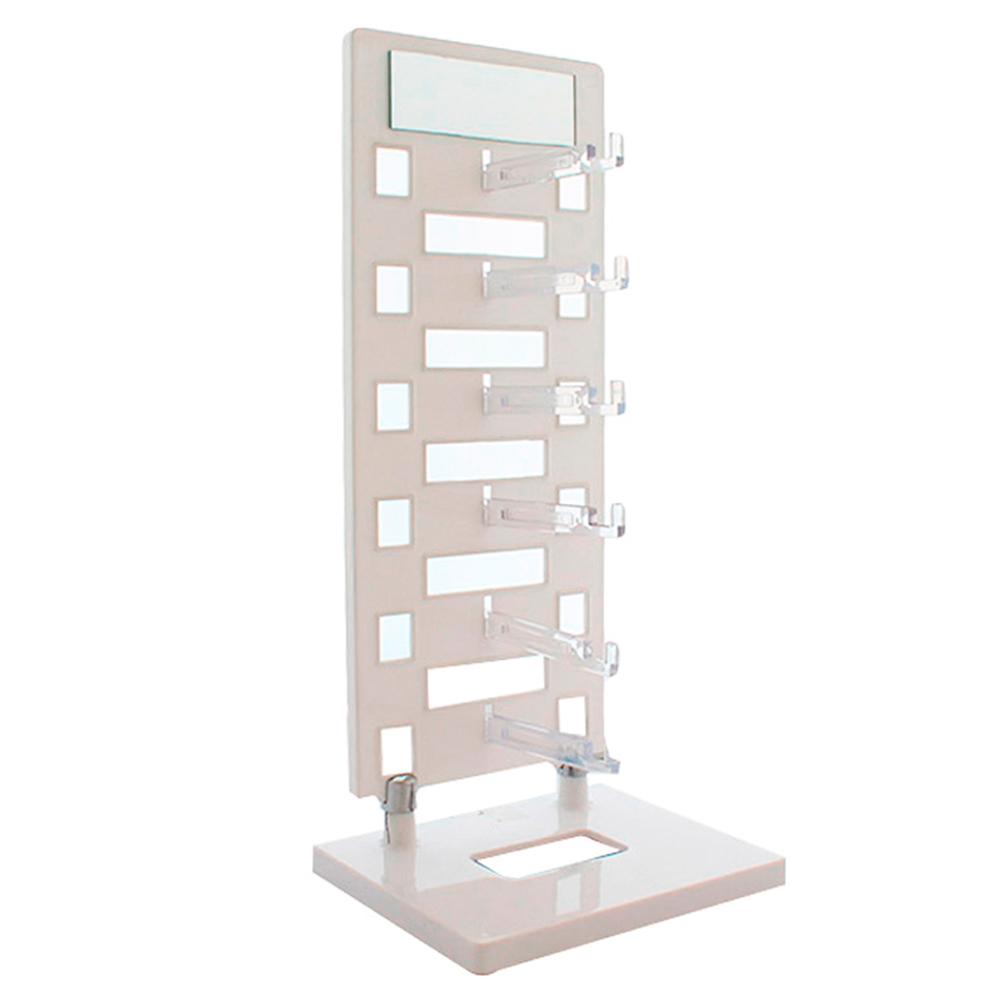 Expositor Torre para 6 Óculos com Espelho EP6L Branco