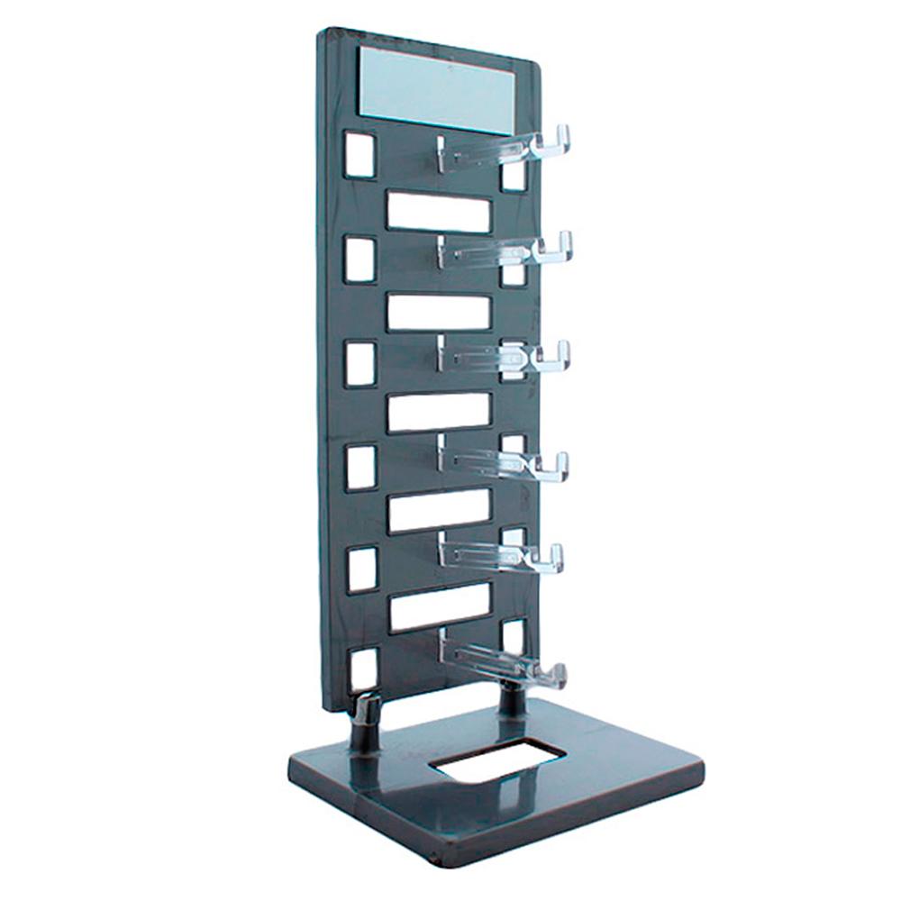 Expositor Torre para 6 Óculos com Espelho EP6L Prata