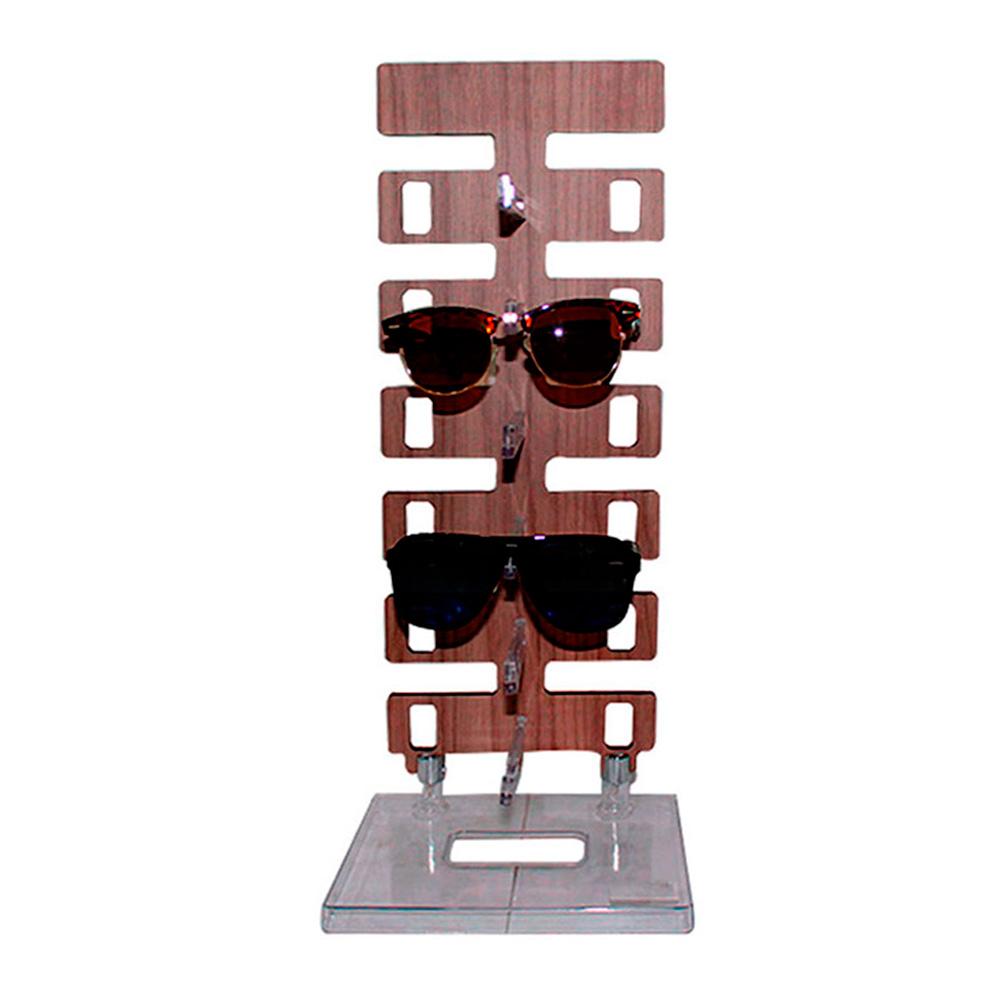 Expositor Torre para 6 Óculos em MDF 06MDF Marrom