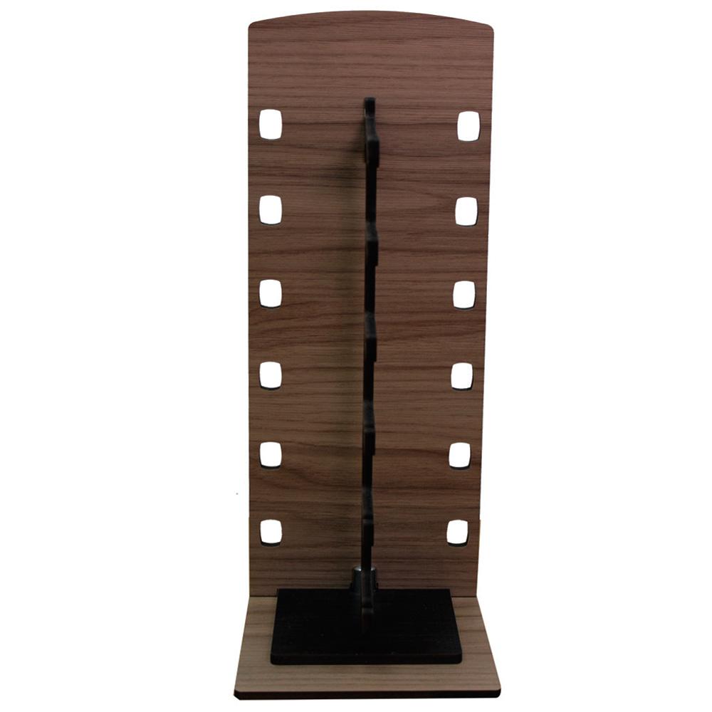 Expositor Torre para 6 Óculos em MDF GOLD6 Marrom com Preto