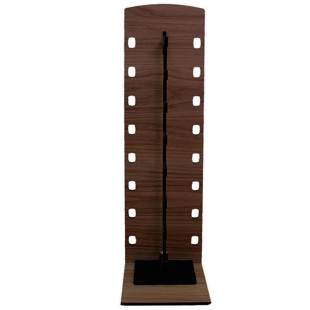 Expositor Torre para 8 Óculos em MDF GOLD8 Marrom com Preto