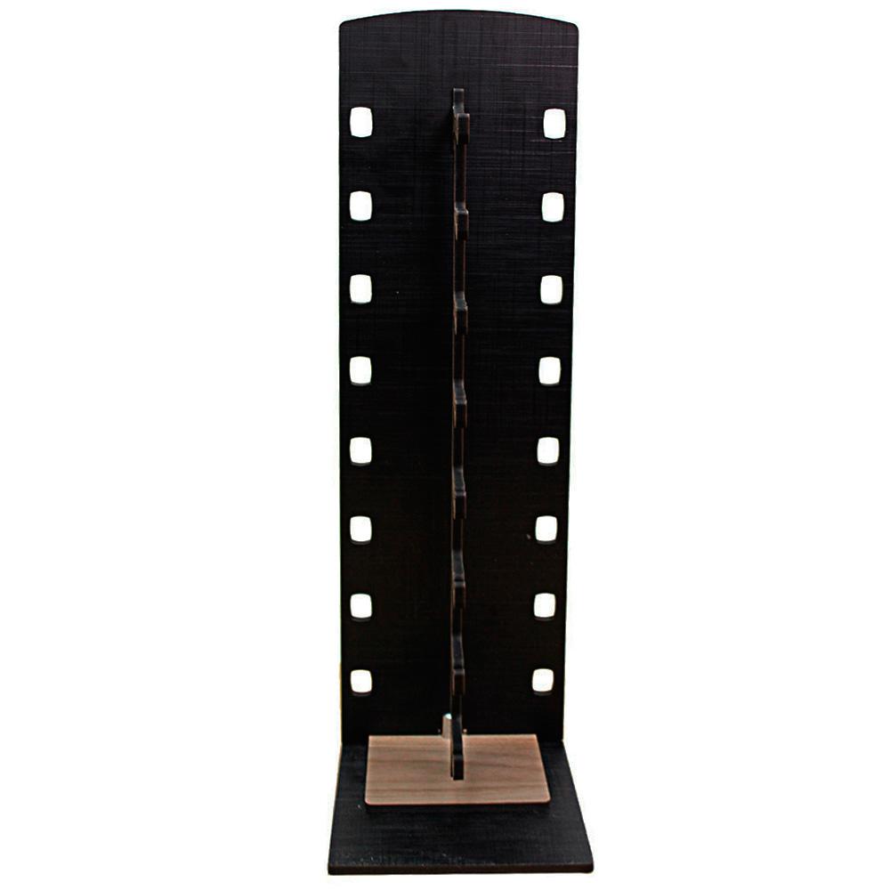 Expositor Torre para 8 Óculos em MDF GOLD8 Preto com Marrom