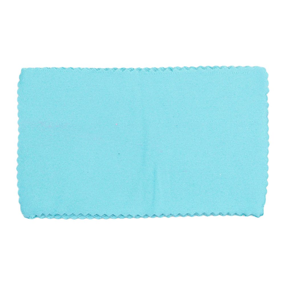 Flanela para Limpeza de Óculos 007F Azul com 5 Unidades